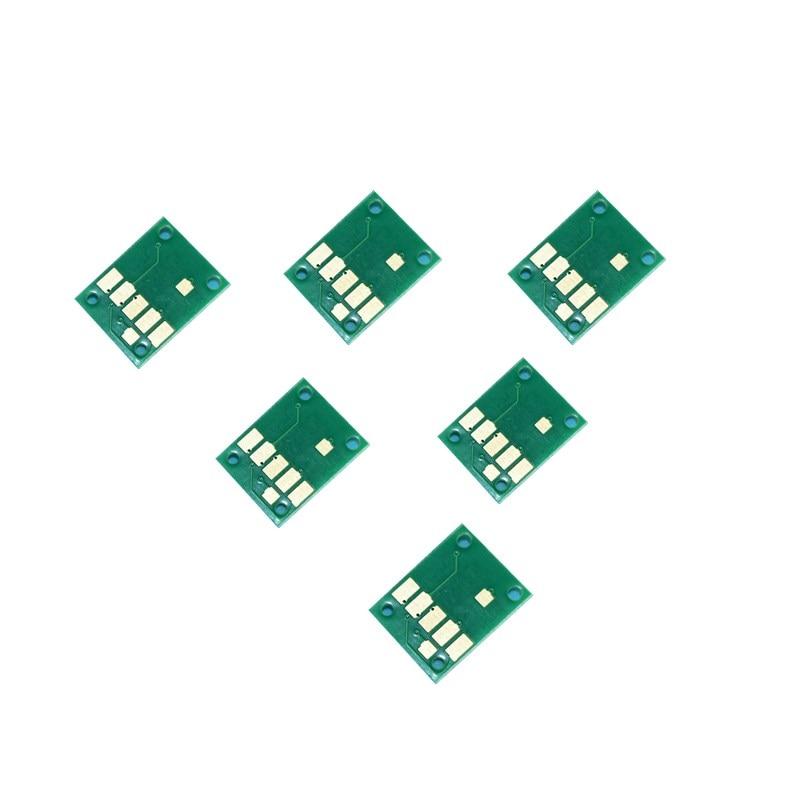 6 Color PGI-670 CLI-671 arco Chip para Canon PIXMA MG7760 MG7765 MG7766 TS8060 TS9060 impresora