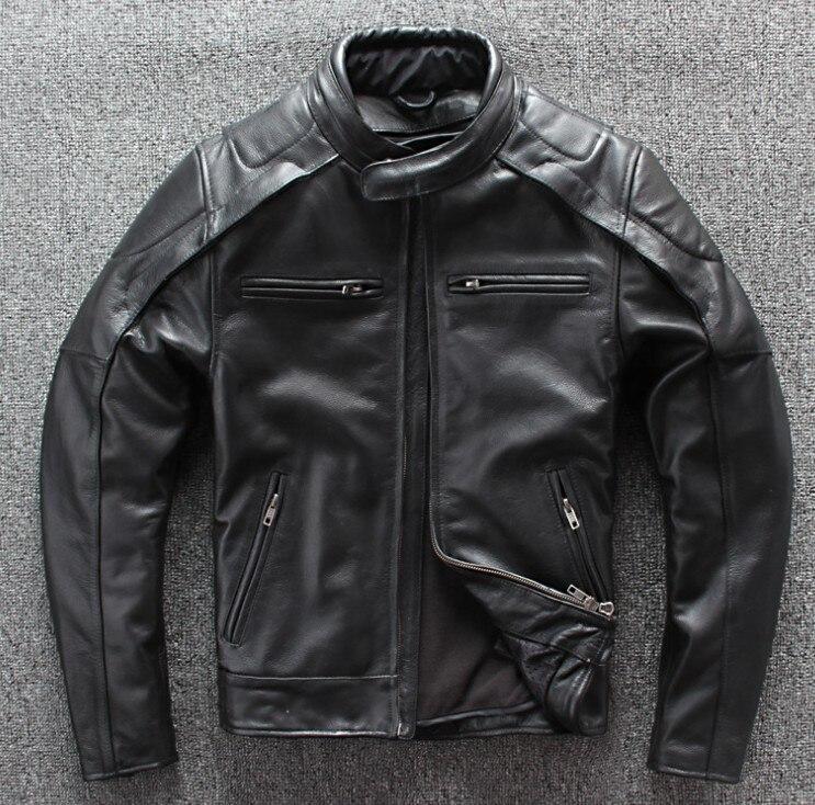 New motorcycle jacket winter warm corium moto jacket racing jacket men's leather jacket detachable vest lining + protective gear