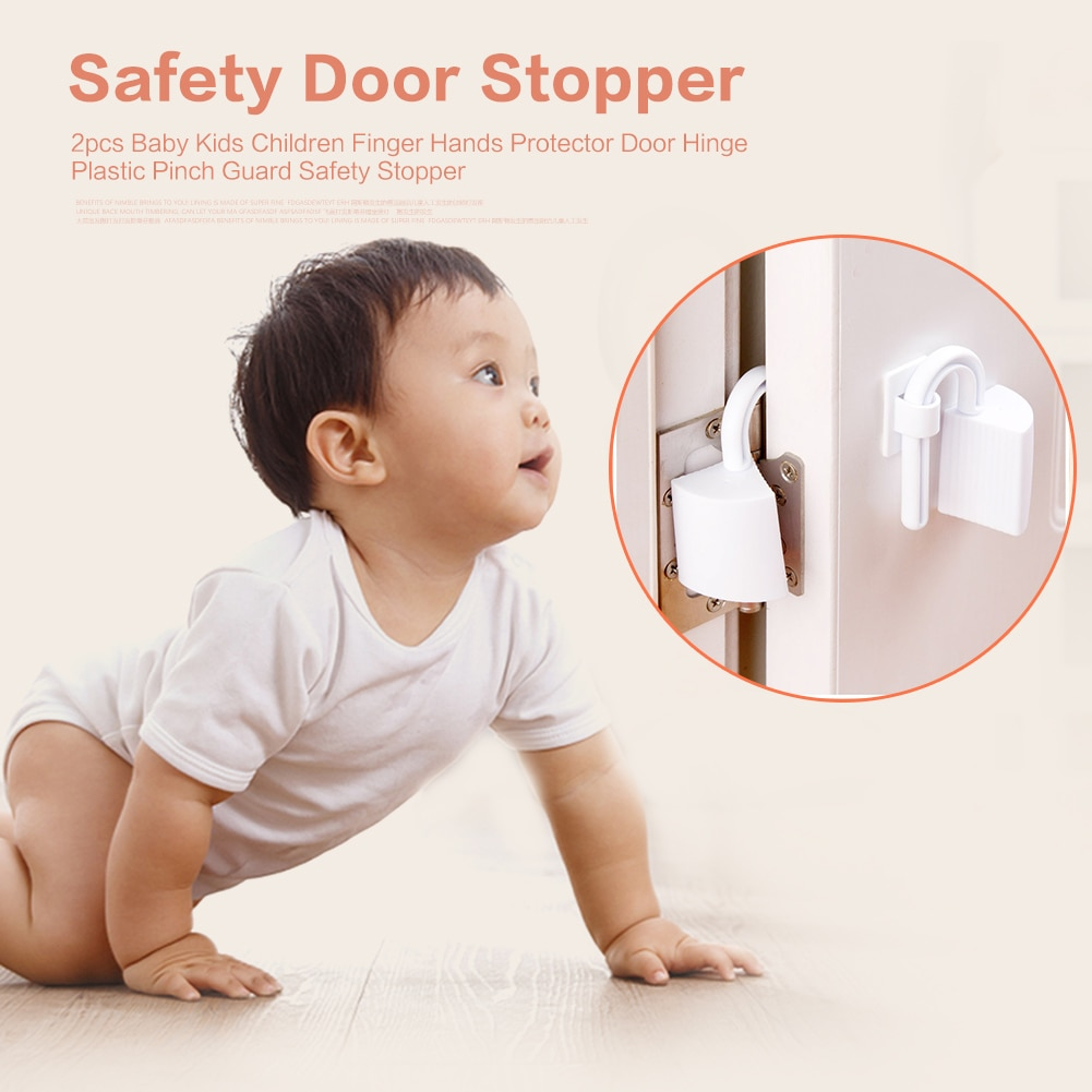 2 шт. двери Безопасность замок шкафа ремни безопасности ребенка рисунок протектор дверной стоппер зажим Безопасность анти пинч ручной одеж...