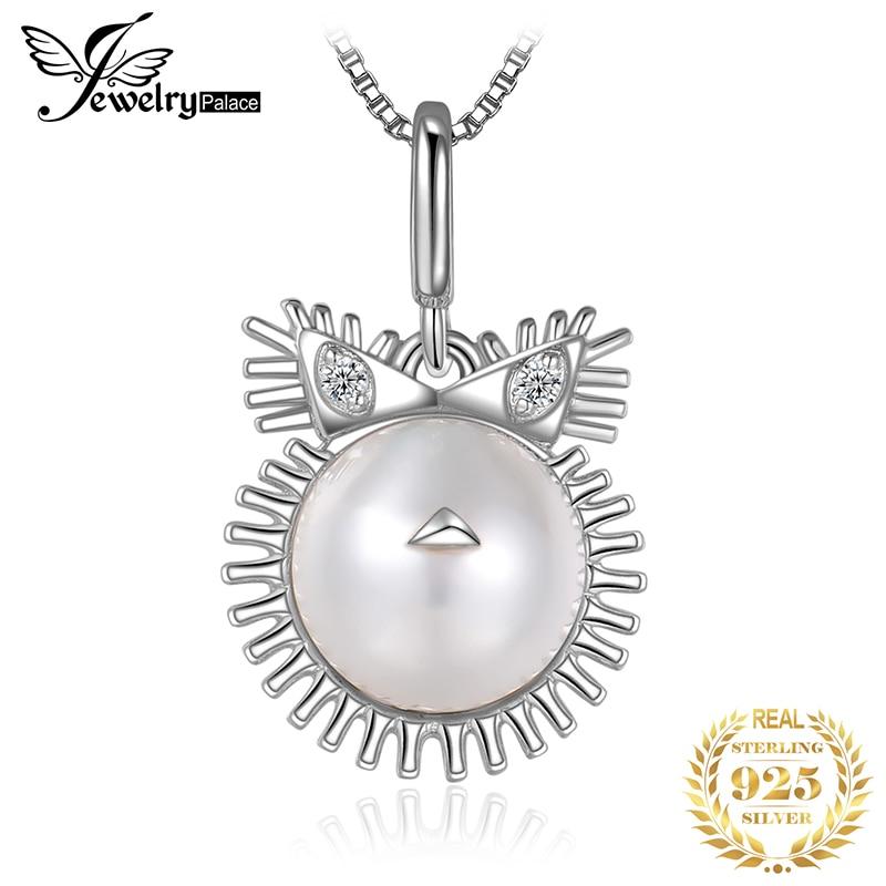 Zodiaco Leo Shell perla colgante collar 925 plata esterlina gargantilla declaración collar mujeres plata 925 joyería sin cadena