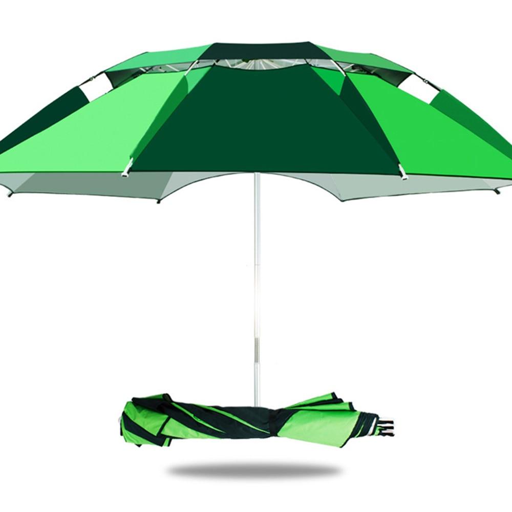 1.8M Outdoor Beach Camping Fishing Umbrella Fold Sun Protection Anti UV Sunshade Waterproof Awning Rain Umbrella X150G