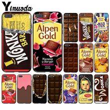 Yinuoda Wonka Bar con boleto dorado Alpen oro chocolate teléfono caso para Huawei Honor 8A 8X9 10 20 Lite 7A 5A 7C 10i 20i