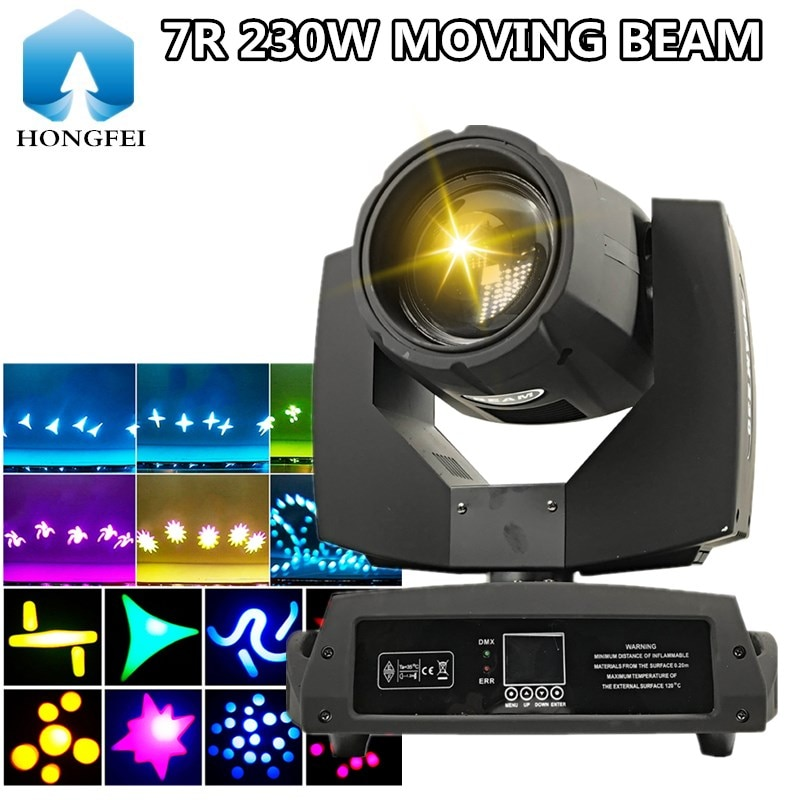 230W شعاع متحرك شعاع ضوء 7R شعاع ضوء المرحلة ديسكو مصباح معدات dj