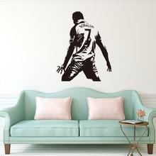 Autocollant mural en vinyle Cr7 bricolage   Autocollant de joueur de Football Cristiano Ronaldo, décoration murale pour chambre denfants et garçons, Y136
