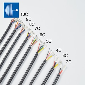 UL2464 5/12m 20awg 2/3/4/5/6/7/8/9/10 cores electrical cable Multi-core PVC jacket cable Tinned standard copper wire audio cable