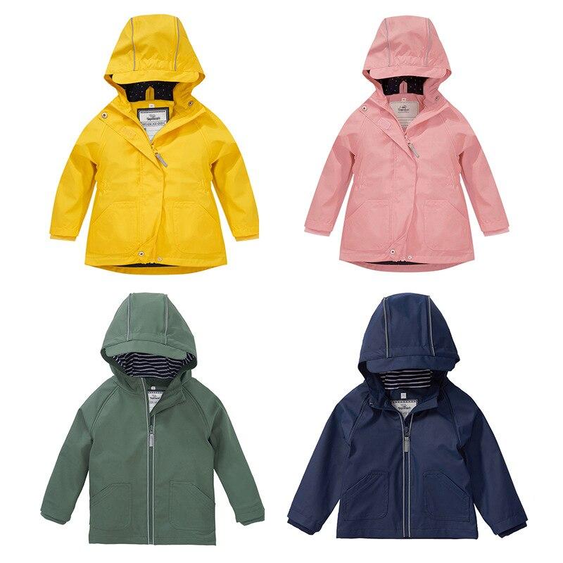 Hooded Waterproof Jacket Girls Clothes PU Cotton Warm Baby Boy Winter Coat Windproof Children Cardigan Outerwear Sport Playsuits