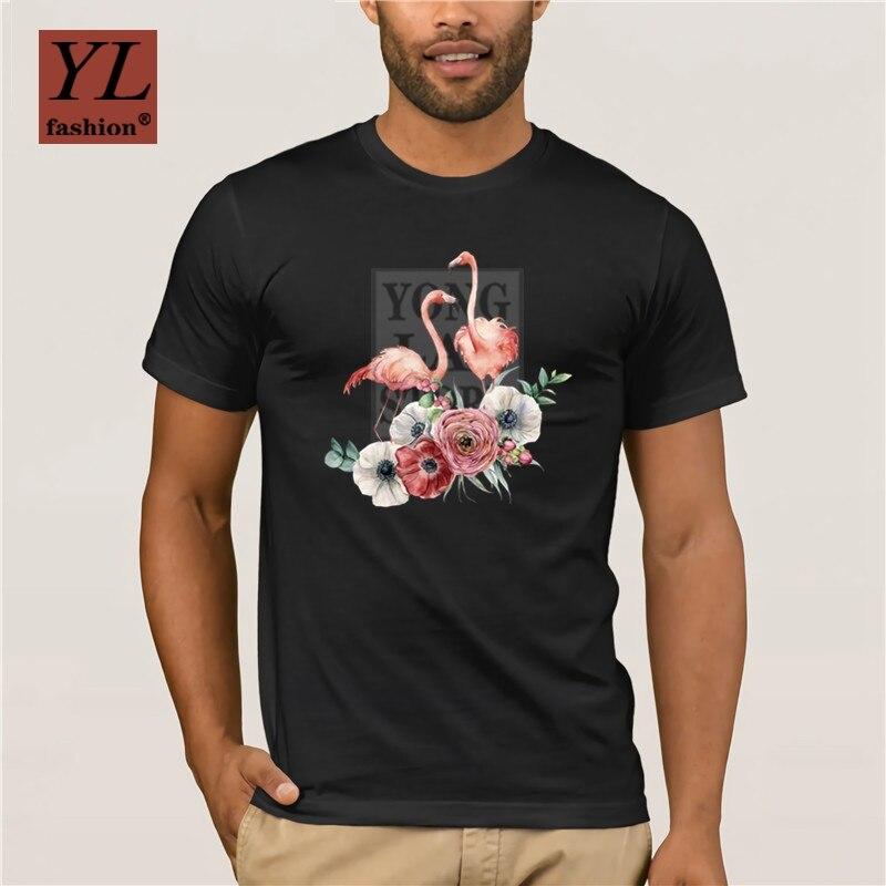 2020 moda casal flamingos e flores folhas bonito t camisa das mulheres verão novo branco casual manga curta femme