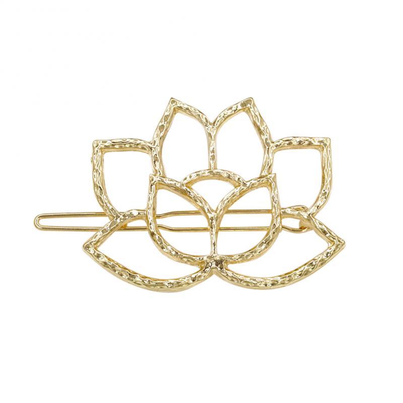 Estilo vintage moda openwork lotus hairpin grampo de cabelo feminino jóias de noiva