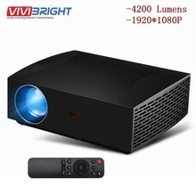 New VIVIBRIGHT F30 4K HD Projector LCD 1080P 3D EU WIFI FHD Mini Portable Projector 4200 Lumens 1920x1080P Home Theater