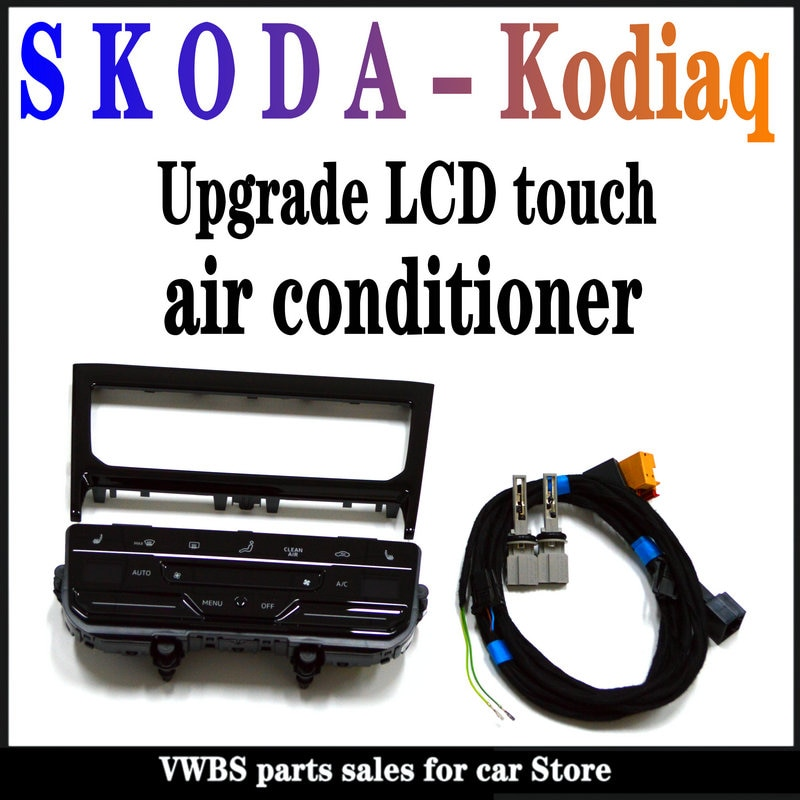 AliExpress - S k o d a-kodiaq upgrade original LCD touch air conditioner original paint decorative frame -56G 820 075 B