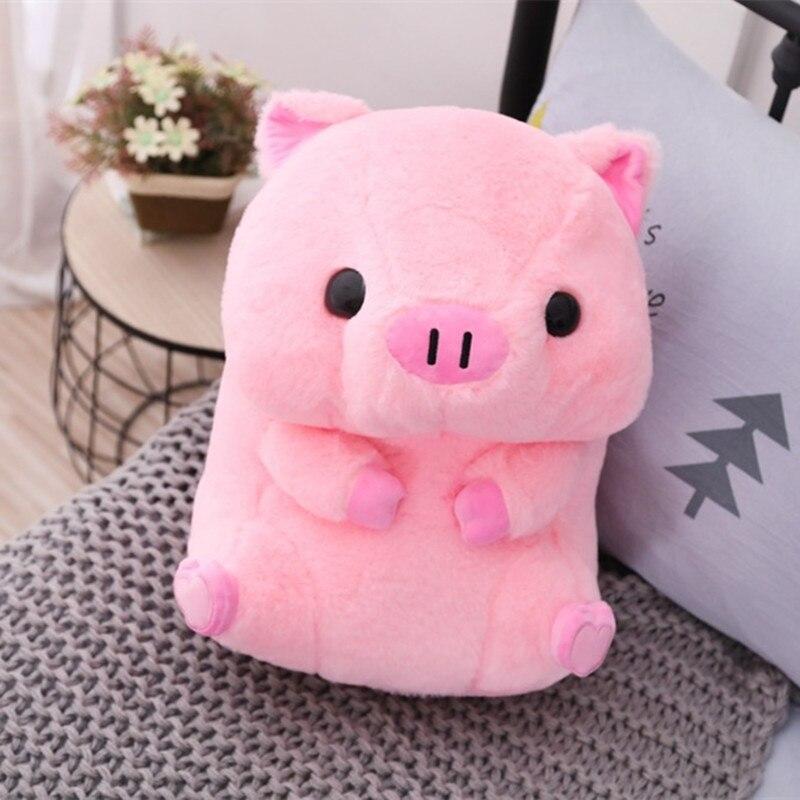 Плюшевые игрушки в виде мультяшной розовой свиньи, плюшевые игрушки, подушка, супер мягкие детские удобные мягкие игрушки, кукла для ребенк...