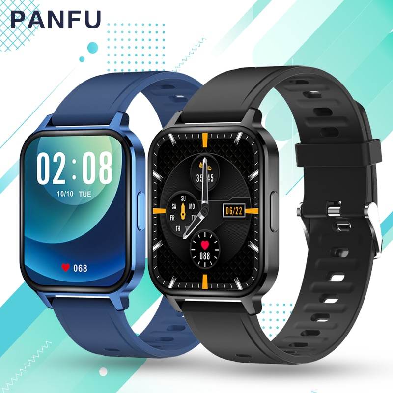 2021 new q18 Smart watch Men Music 1.7 inch Full Touch Fitness Tracker Blood Pressure Clock Women Smart Watch for Xiaomi x22