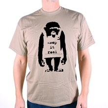 Banksy T Shirt - Keep It Real Chimp Classic Street Art Graffiti Pop Culture