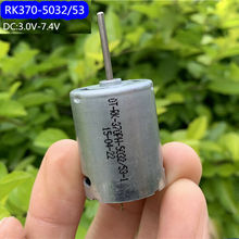 Micro mini 370 motor RK-370PH-5032 elétrica dc 3v 3.7v 5v 6v 31000rpm de alta velocidade redonda 24.3mm longo eixo diy brinquedo carro barco modelo