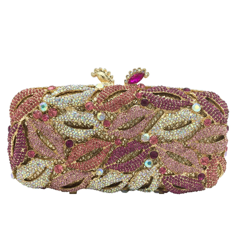 بوتيك دي FGG مثير الشفاه النساء كريستال مساء حقائب يد صغيرة يدوية الصنع الماس minaudio ere حقيبة الزفاف حقائب اليد