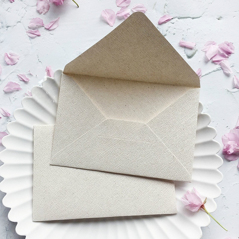 5 uds. Sobres con textura de arpillera, papelería, papel, regalo, artesanía para boda, carta de invitación planificada