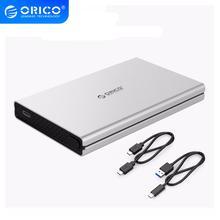 Boîtier de disque dur ORICO USB3.0/type-c à SATA3.0 Support de boîtier de disque dur en aluminium sans outil UASP pour Samsung 2.5 pouces HDD/SSD