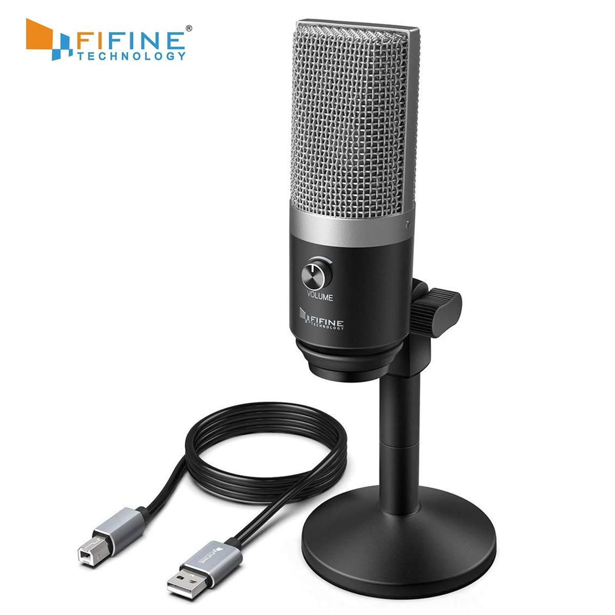 [해외] FIFINE USB 마이크 (노트북 및 컴퓨터 용) 스트리밍 용 Twitch Voice overs Podcasting for Youtube Skype K670