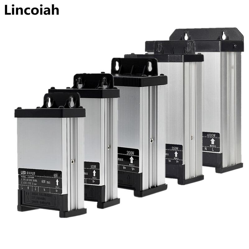 Lighting Transformers AC/DC 5V 12V 24V Switching Power Supply 5A 8A 10A 15A 20A 220V TO 5 12 24 V Volt Outdoor Rainproof SMPS