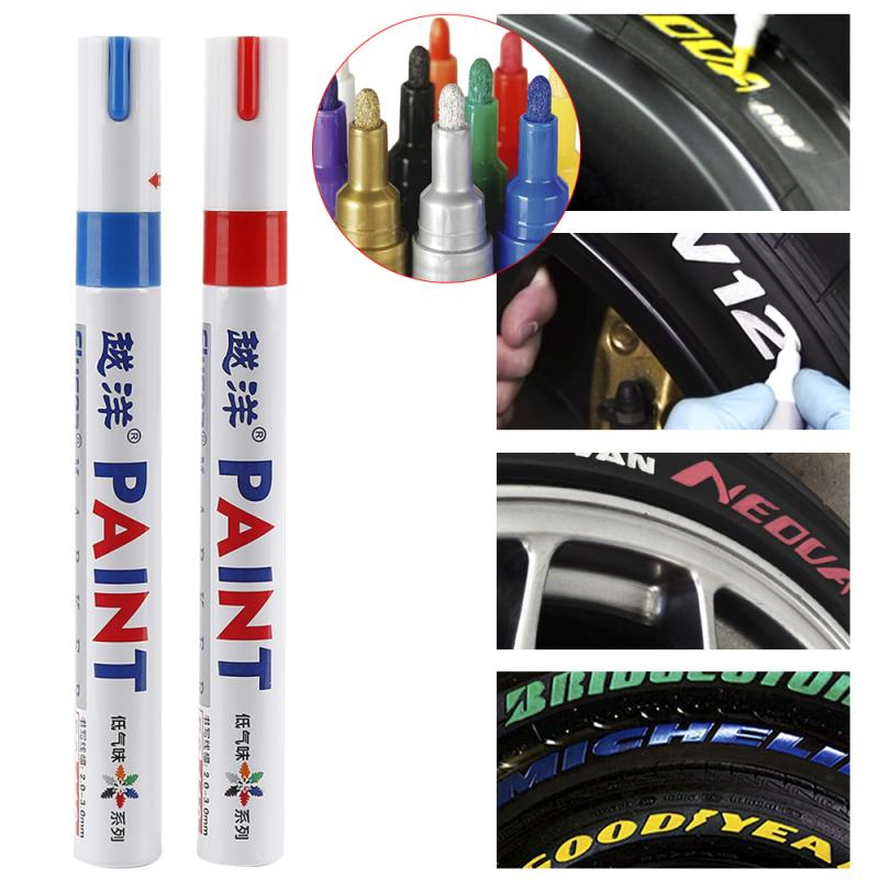 DIY Auto Touch Up Pen Auto Mending Fill Paint Pen Tool Car Marker Paint 12 Colors To Choose From Can Be Written On Any Surface