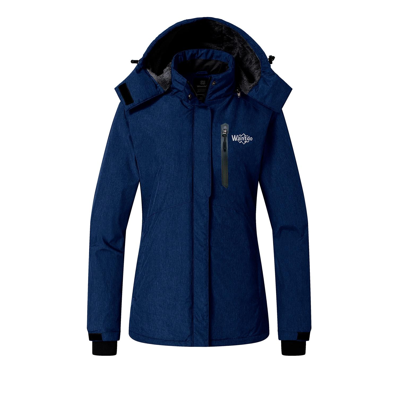 Wantdo Женская водонепроницаемая Лыжная куртка флисовая Зимняя парка ветрозащитное зимнее пальто водостойкий дождевик