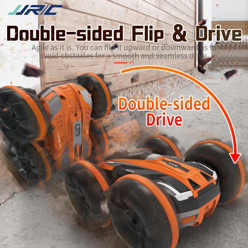 Coche teledirigido JJRC Q81 RC 4WD coche de carreras anfibio 360 grados Roll doble cara coche de truco juguete para niños