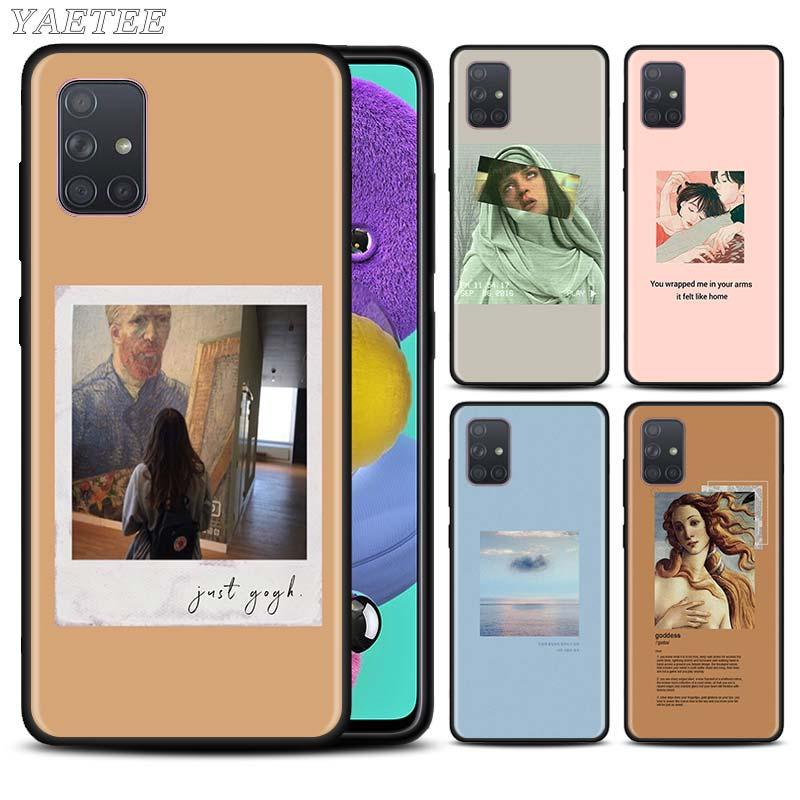 Arte estética van Gogh Mona Lisa caso de teléfono para Samsung Galaxy A51 A71 5G A50 A70 A10 A10s A20 A30 A40 A31 A41 A7 2018 cubierta