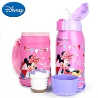 original disney 304 stainless steel vacuum flask childrens music learning portable strap pot student dual use straw cup
