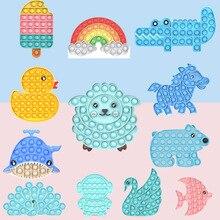 Fidget Adult Stress Relief Push It Bubble Ice Cream Animal Design Children Educational Toys Can Reli