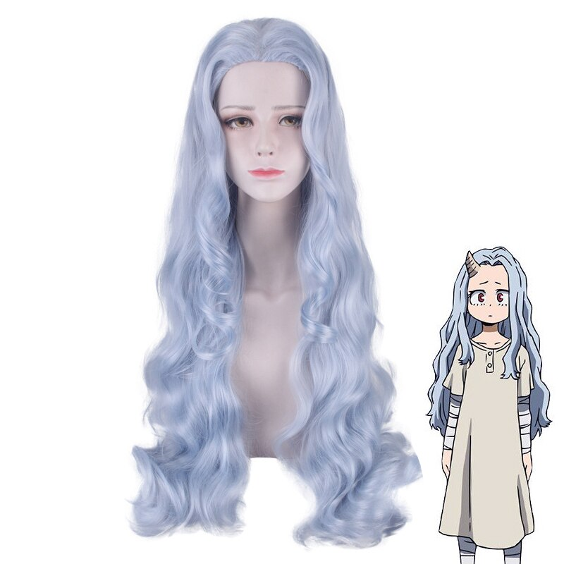 Anime My Hero Academia Eri Women Long Curly Wig Cosplay Costume Boku no Hero Academia Heat Resistant Synthetic Hair Wigs