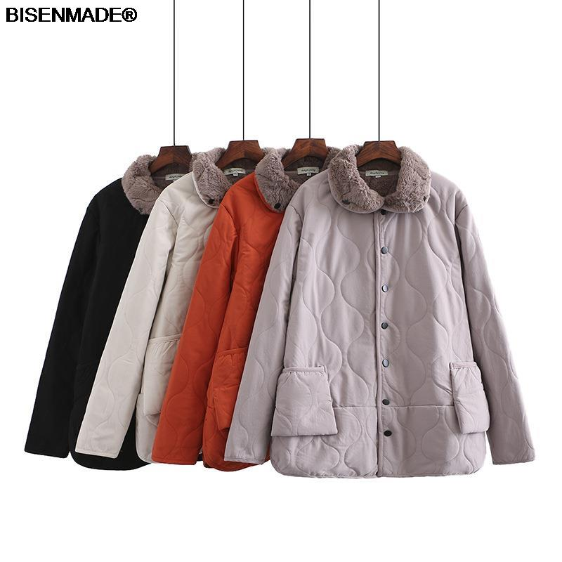 Winter Parka Women Clothes Plus Size&Curve 2021 New Fleece Coat Rabbit Hair Liner Warm Outerwear Fashion Casual Loose Jacket