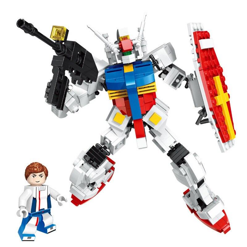 Super robot war mecha, bloques de construcción clásicos de gundam rx78-2, figuras de Amuro Ray, juego de bloques de modelismo, colección de juguetes para niños, regalos