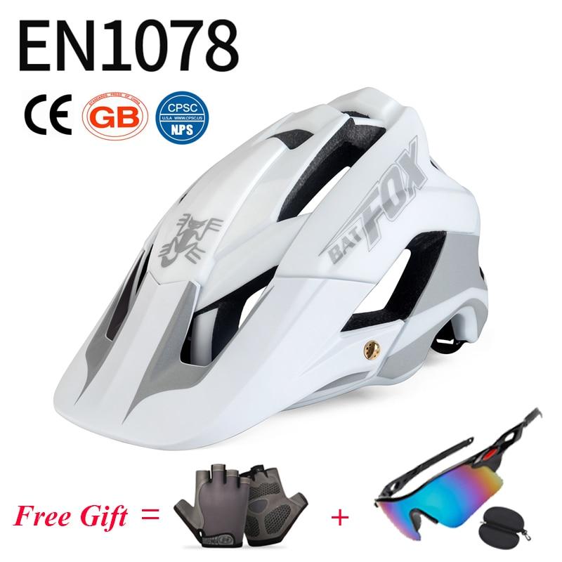 BATFOX-Casco De seguridad para bicicleta De montaña ultraligero para hombre y mujer,...
