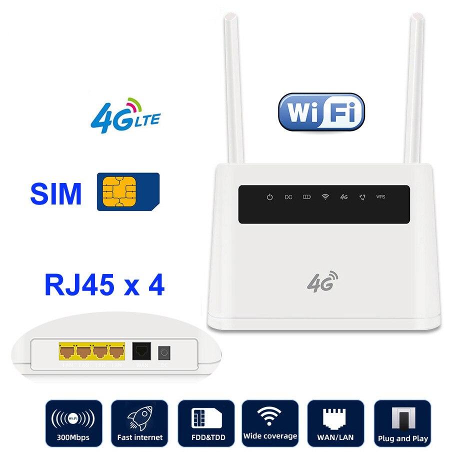 DONG ZHEN HUA R9 LTE CPE 4G Wifi Router Broadband Unlock Modem 4G 3G Mobile Hotspot WAN/LAN RJ45 Port Dual External Antennas