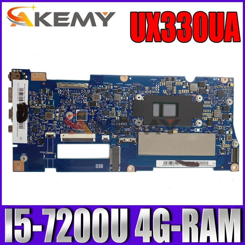 Akemy UX330UA اللوحة الأم للكمبيوتر المحمول ASUS ZenBook UX330UAK UX330UA U3000U الأصلي اللوحة الرئيسية 4G-RAM I5-7200U وحدة المعالجة المركزية