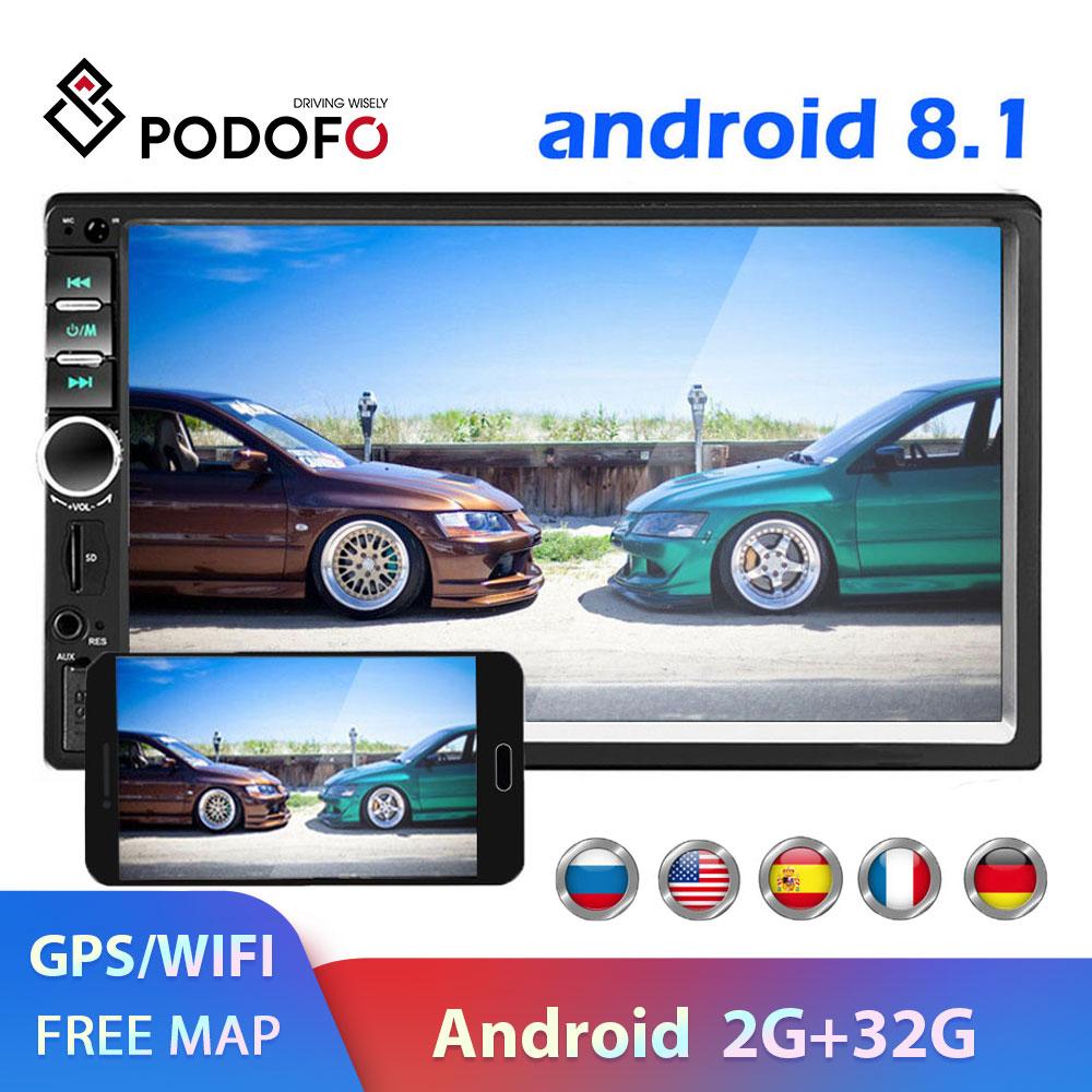 Podofo 2 din Car Radio GPS multimedia Player Android Universal auto Stereo 2din Video MP5 Player Autoradio GPS WIFI Bluetooth FM
