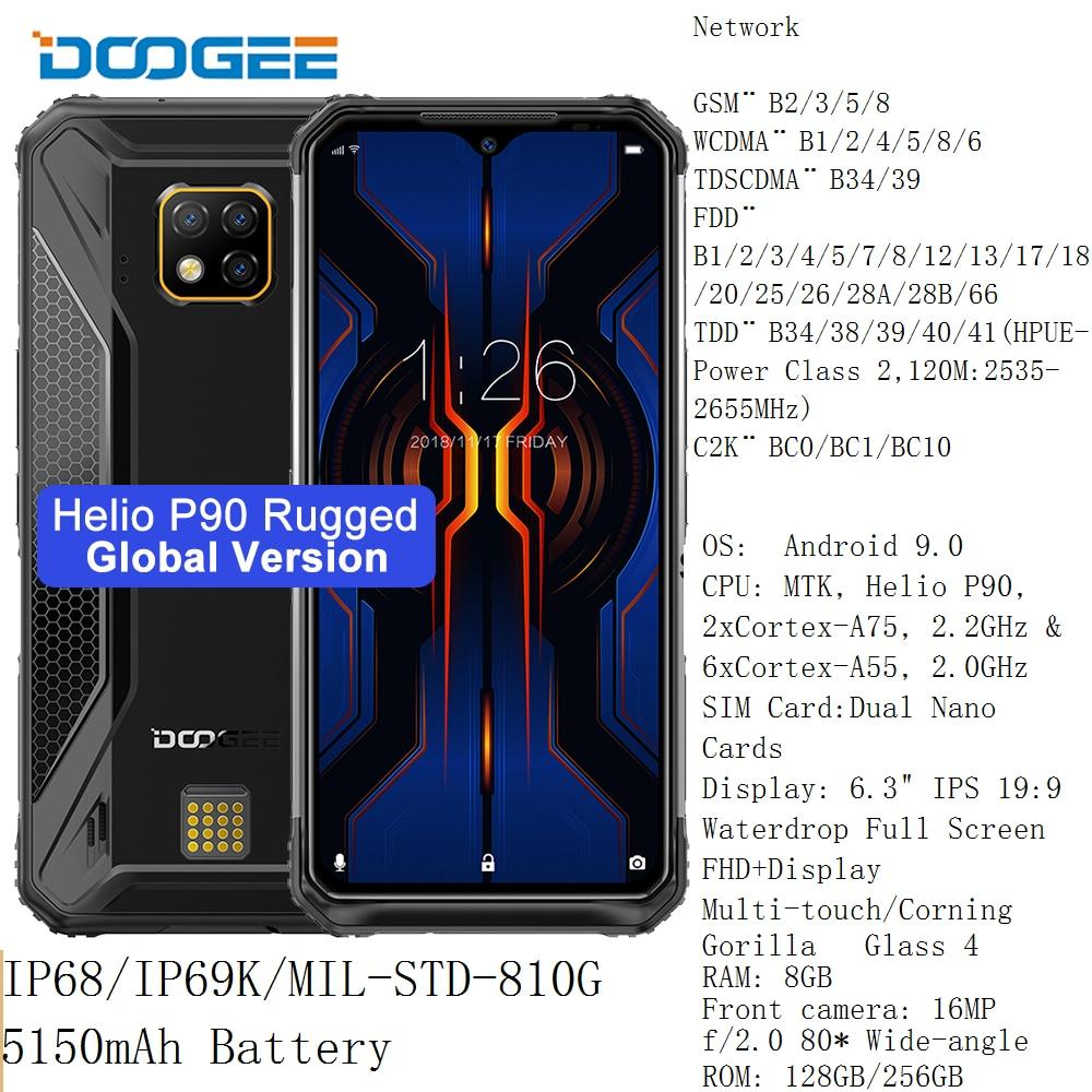 DOOGEE S95 Pro 8GB 256GB/128GB Modular Rugged Phone 6.3'' Helio P90 Octa Core 5150mAh 48MP Triple Camera Android 9.0 NFC