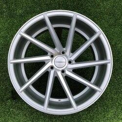 Rodas de liga de automóveis especiais, rodas para automóveis de 17 polegadas 5x100 prata adequada para toyota prius
