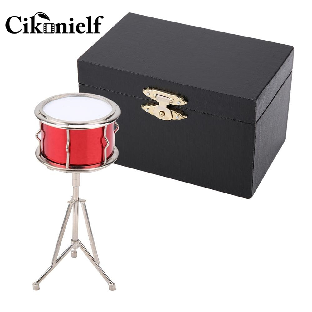Metal Mini Musical Instruments Snare Drum Model Display Mini Musical Ornaments Craft Home Decor