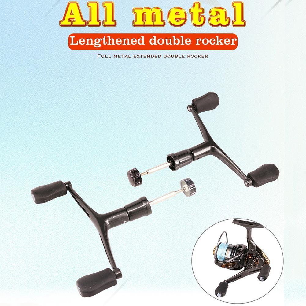 DEUKIO Fishing Reel Double Handle Metal Rocker Arm Spinning Wheel Handlebars Modified Accessories Two Sizes enlarge