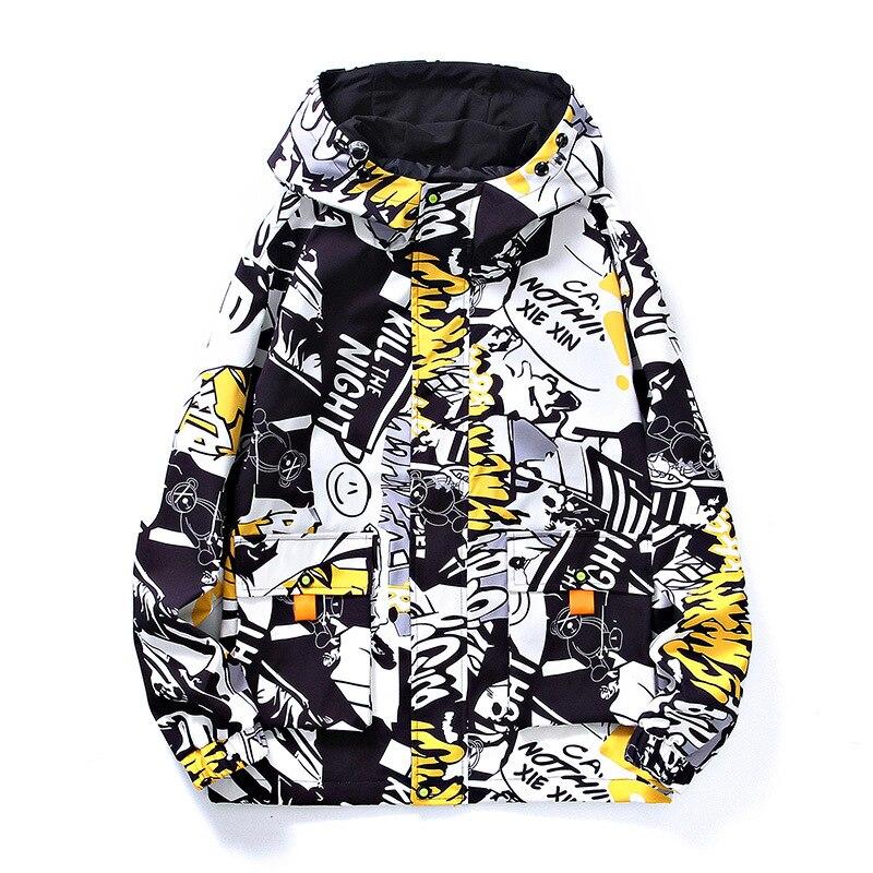 Мужская классическая Куртка с национальным принтом, мужская куртка с капюшоном для весны и осени 2021, Мужская ветровка для улицы