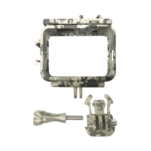Protective Frame Shell Cage Housing with Code Shoe Mount Protective Camouflage Desert Gray Frame for GoPro 9 Camera