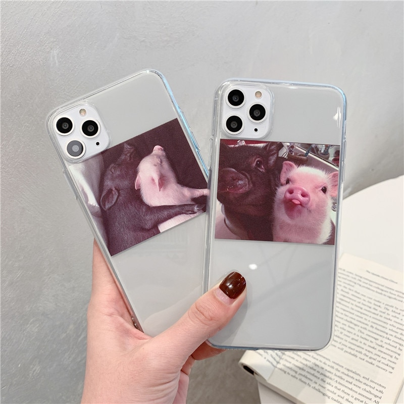 Divertido lindo cerdo funda del teléfono para Huawei P30 Pro P20 Lite Mate 30 20 P smart y9 7a Honor 20 10 V20 8X Nova 3 4 5 Pro cubierta suave