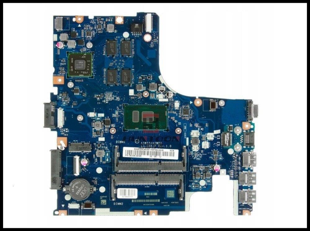 High quality AIWZ2/AIWZ3 LA-C851P FOR Lenovo 500-14ISK Motherboard FRU5B20K34548 SR2EZ I7-6500U 2.5GHZ R7 M360 4GB Tested
