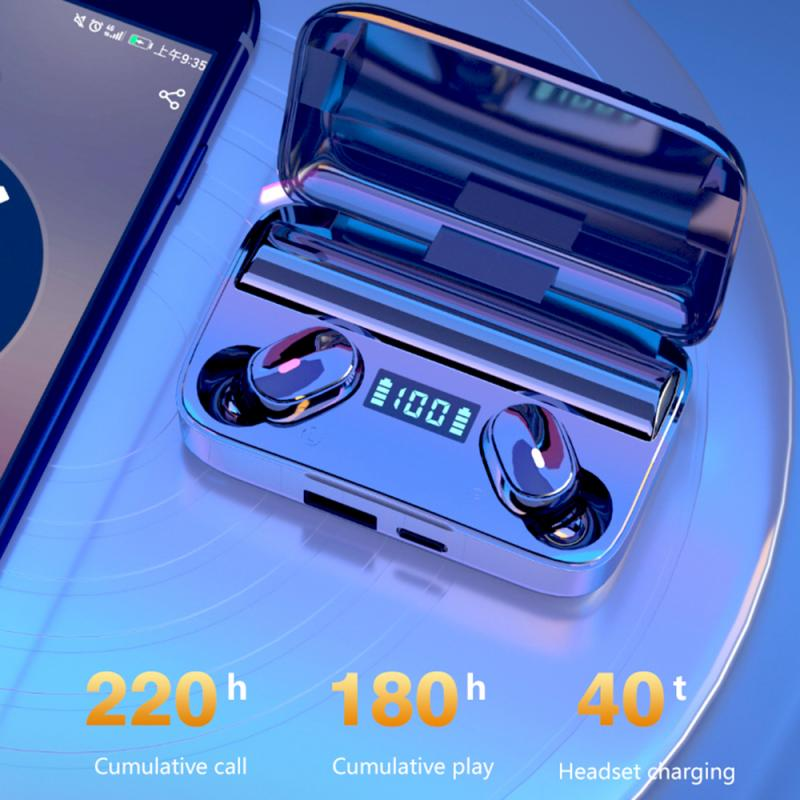 Tws Draadloze Oortelefoon 5.0 Oortelefoon Tws Voor Xiaomi Redmi Airdots Headset Noise Cancelling Oordopjes Voor Huawei Samgsung Telefoon