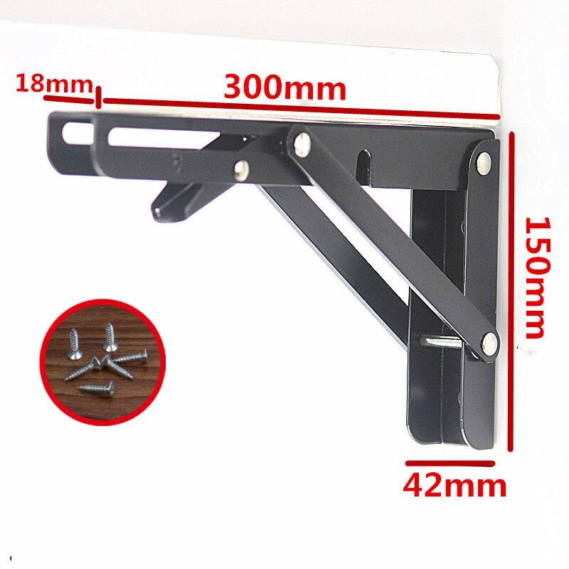2 قطعة ، 12 بوصة الثقيلة 90 درجة كبيرة الزخرفية الجدول الأسود قابل للتعديل زاوية الرف جدار معدني الجدول للطي قوس الرف