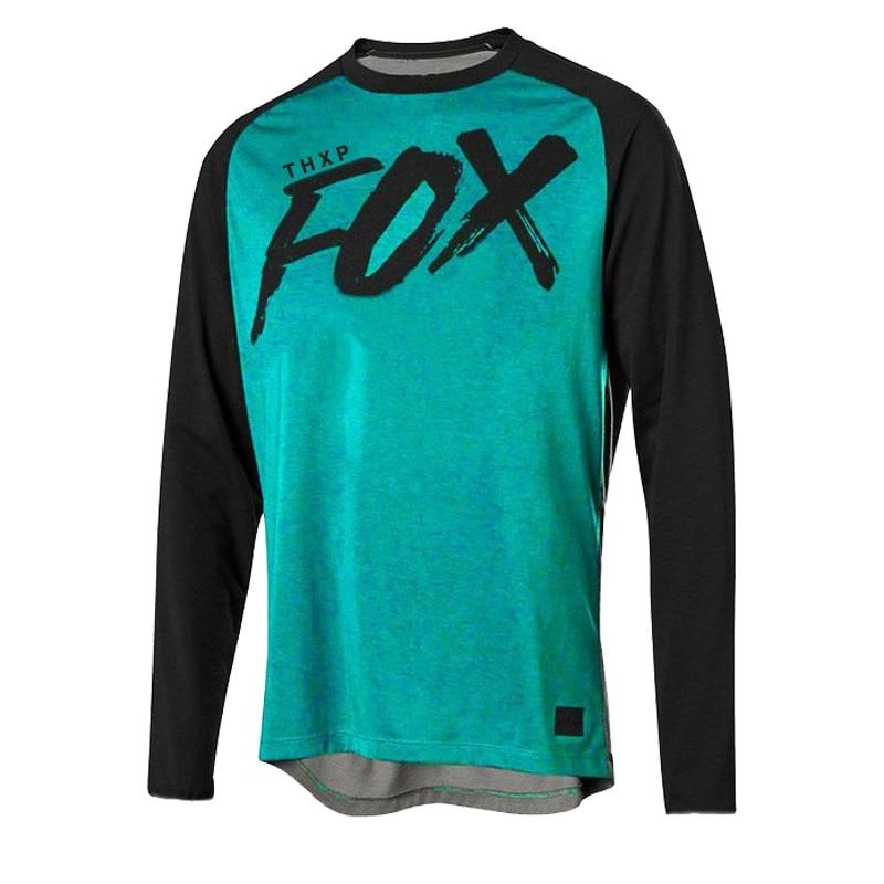 THXP foxmtb-Camiseta de descenso para hombre de camiseta de amouflage para bicicleta...