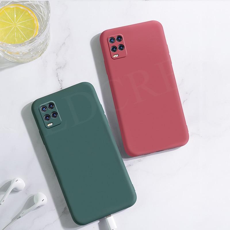 Dla Xiaomi Mi 10 Lite płynna guma silikonowe antypoślizgowe miękkie etui dla Xiaomi Mi 10 Lite pokrywa dla Mi 10 Pro Mi 10 lite Redmi Note 9s uwaga 9 pro uwaga 9 pro max