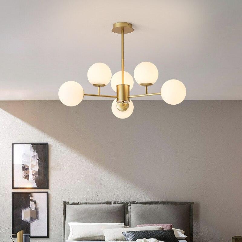 الكرة نجفة لغرفة النوم/غرفة المعيشة الشمال وجيزة قلادة LED مصباح المنزل Indor شنقا تركيب المصابيح داخلي
