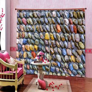 European Curtains stone design Curtains For Living Room Bedroom colorful Window Curtain Blackout